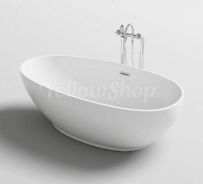 Vasca da bagno ovale trend freestanding moderna vasche design 180x90xh58 ebay - Vasche da bagno retro ...