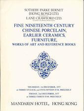 SOTHEBY'S HK CHINESE CERAMICS JADES FURNITURE BOOKS WOA Auction Catalog 1977