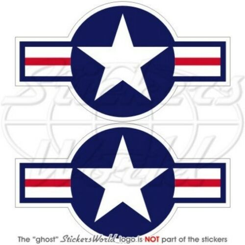 United States AirForce USAF US ARMY NAVY USMC Aircraft Roundel 95mm Stickers x2