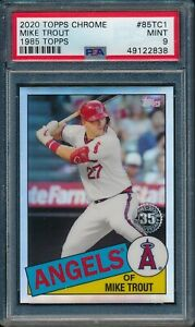 2020-Topps-Chrome-1985-Topps-35th-Anniv-Mike-Trout-85TC-1-PSA-9-ANGELS-MINT