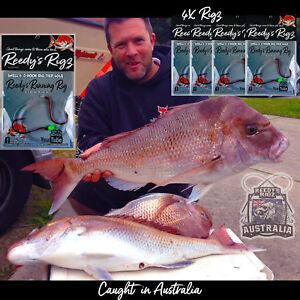 4x-Reedy-039-s-Running-Rig-Snell-Hook-40lb-5-0-6-0-Sucide-Hook-Kingfish-Snapper