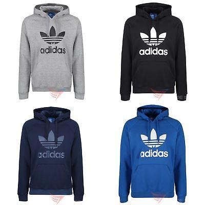 super cute official supplier discount adidas ORIGINALS TREFOIL HOODIE BLUE NAVY BLACK GREY ...
