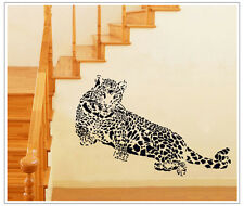 Huge Leopard Quote Wall Sticker Vinyl Decal Art Mural Family Home Room Decor DIY