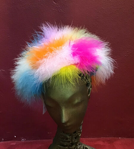 Vintage 50's Rainbow Hat Feathers Happy Cappers St