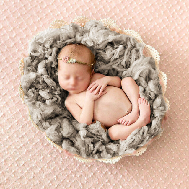 Baby Newborn Toddler Infant Soft Wool Basket Stuffer Backdrop Photo Prop