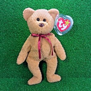 9fb428afce0 Ty Beanie Baby Curly The BEAR RETIRED Teddy Plush Toy Rare PVC 4th ...