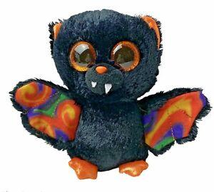 "Ty Beanie Boos Scarem Vampire Bat Plush Stuffed Animal 5"" Black Orange Halloween"