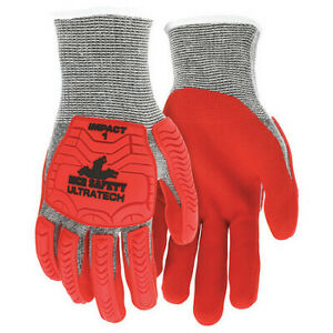 Mcr Safety Ut1954l Coated Gloves,L,Knit Cuff,Pk12