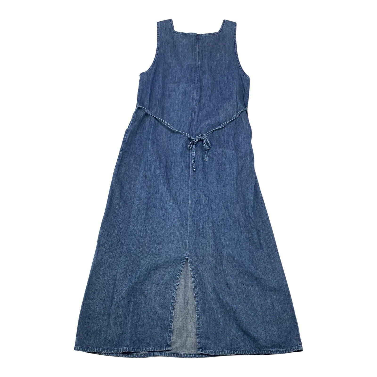 Womens Size 12P LL Bean Dress Jean Denim Apron Bl… - image 3