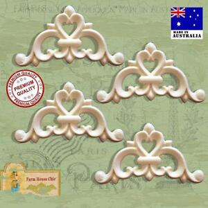 4-x-Shabby-French-Chic-Furniture-Resin-Appliques-Vintage-Decor-Art-Moldings