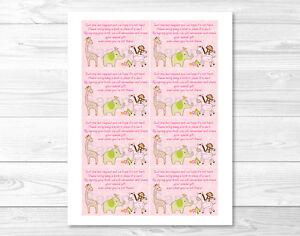 Image Is Loading Safari Girl Jungle Animal Printable Baby Shower Book
