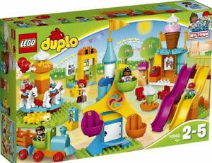 Lego Duplo Большой город ярмарка 10840 ролевые игры и обучения строительные блоки комплект