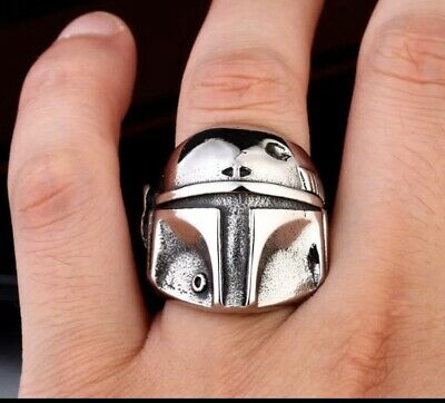 Geek and Glitter Star Wars Mandalorian Stainless Steel Ring