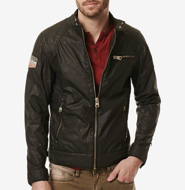 Buffalo David Bitton men's jailon jacket size xxl motorcycle inspired design