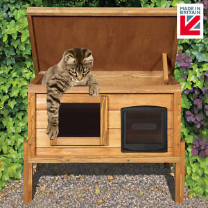 external self heating outdoor cat house kennel with one way privacy window ebay