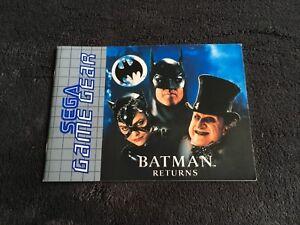 Notice-SEGA-Game-Gear-Batman-Returns-PAL-Tres-Bon-etat