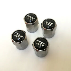 4 x Bouchon de valve AUDI jantes alu A3 A4 A5 A6 A7 A8 TT S3 S4 S6 TDI 3.0 V6 S