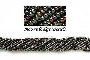 ALSB58 CZECH 11//0 Seed Beads-IRIS METALLIC OLIVE-HANK