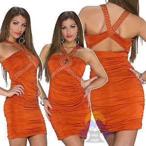 ABITINO-da-DONNA-Miniabito-CORTO-Girl-VESTITO-Sexy-MINI-Dress-ELEGANTE-Hot-21286