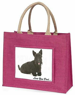 Scottie-hund 'Liebe dich Papa' Große Rosa Einkaufstasche Weihnachtsgeschenk,