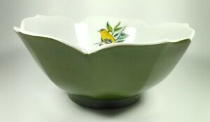 Vintage Japanese Lotus Flower Sauce Bowls Small Black White Side Dish Containers