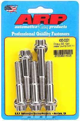 ARP 430-3201 Chevy Big Block//Small Block Water Pump Bolt Kit Stainless 12 Point