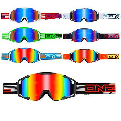 Oneal B2 Rl Radium Mx Goggle Moto Cross Occhiali A Specchio Enduro Dh Specchio- Valore Eccezionale