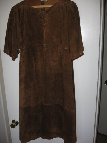 VINTAGE JEAN MUIR WOMEN'S SUEDED LEATHER DRESS/JUM