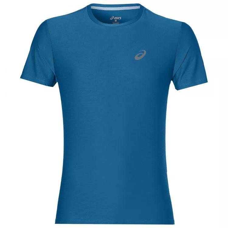 ASICS Men's Running T-Shirt Sports CPS S/S Stripes Logo T-Shirt - Blue - New
