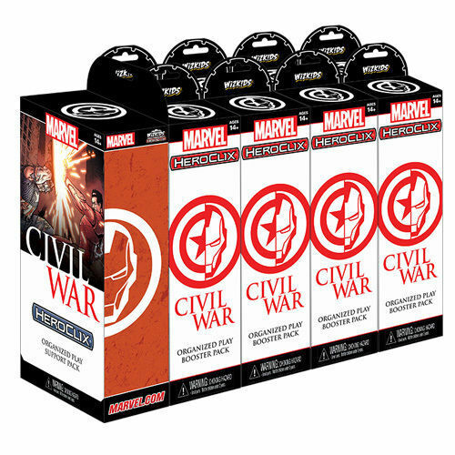 CIVIL WAR Organiserad Play - Wizkins HEROCLIX - Factory ny Sealed Brick - 2016