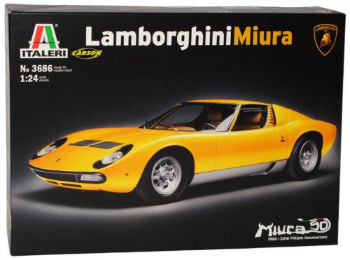 Lamborghini Miura 1966 Coupe amarillo 3686 kit kit 1//24 Italeri modelo auto con