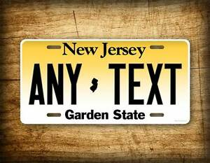 Image is loading Personalized-New-Jersey-License-Plate-Custom-State-Auto-  sc 1 st  eBay & Personalized New Jersey License Plate Custom State Auto Tag 6x12 NJ ...