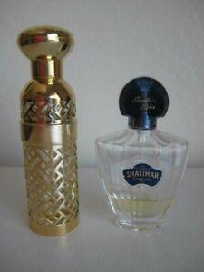 Vintage-Guerlain-Shalimar-Gold-Lattice-1981-Falcon-Spray-2-5-oz-Bottle-1-4-Full