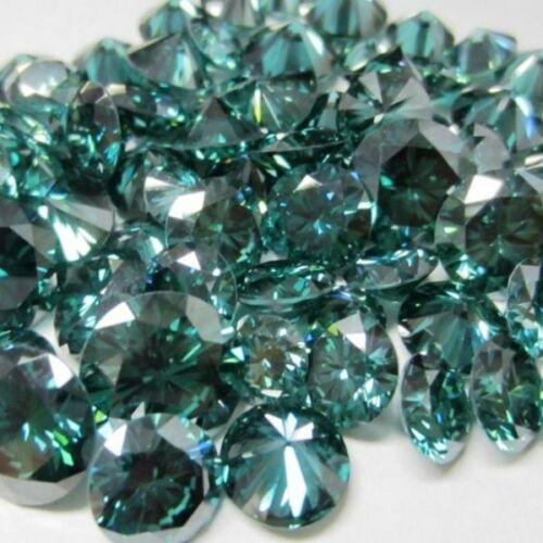 Brilliant cut round 0.5 to 4.25 carat dark blue green moissanite,VVS1 quality