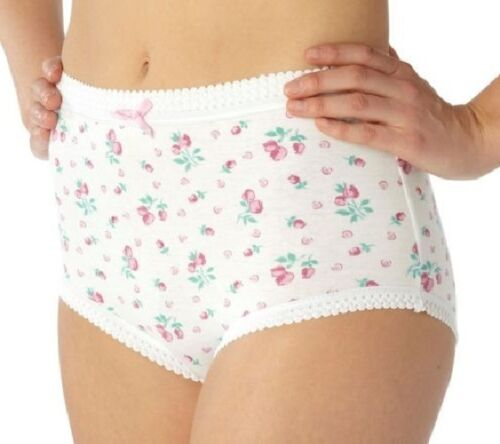 ladies full briefs pants 100/% cotton 18 20 22 24 26 28 30 32 34 36 38 3 PACK
