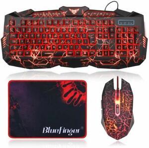 Teclado y ratón LED para,juegos GAMERS GAMING para PC Laptops...