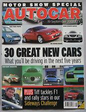 Autocar 19/9/2001 featuring Seat Tango, Nissan X-Trail 2.2Di Sport