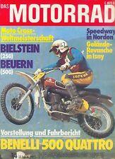 Motorrad 14 74 Benelli 500 Quattro Apfelbeck Mallory 1974 Motortechnik Italien