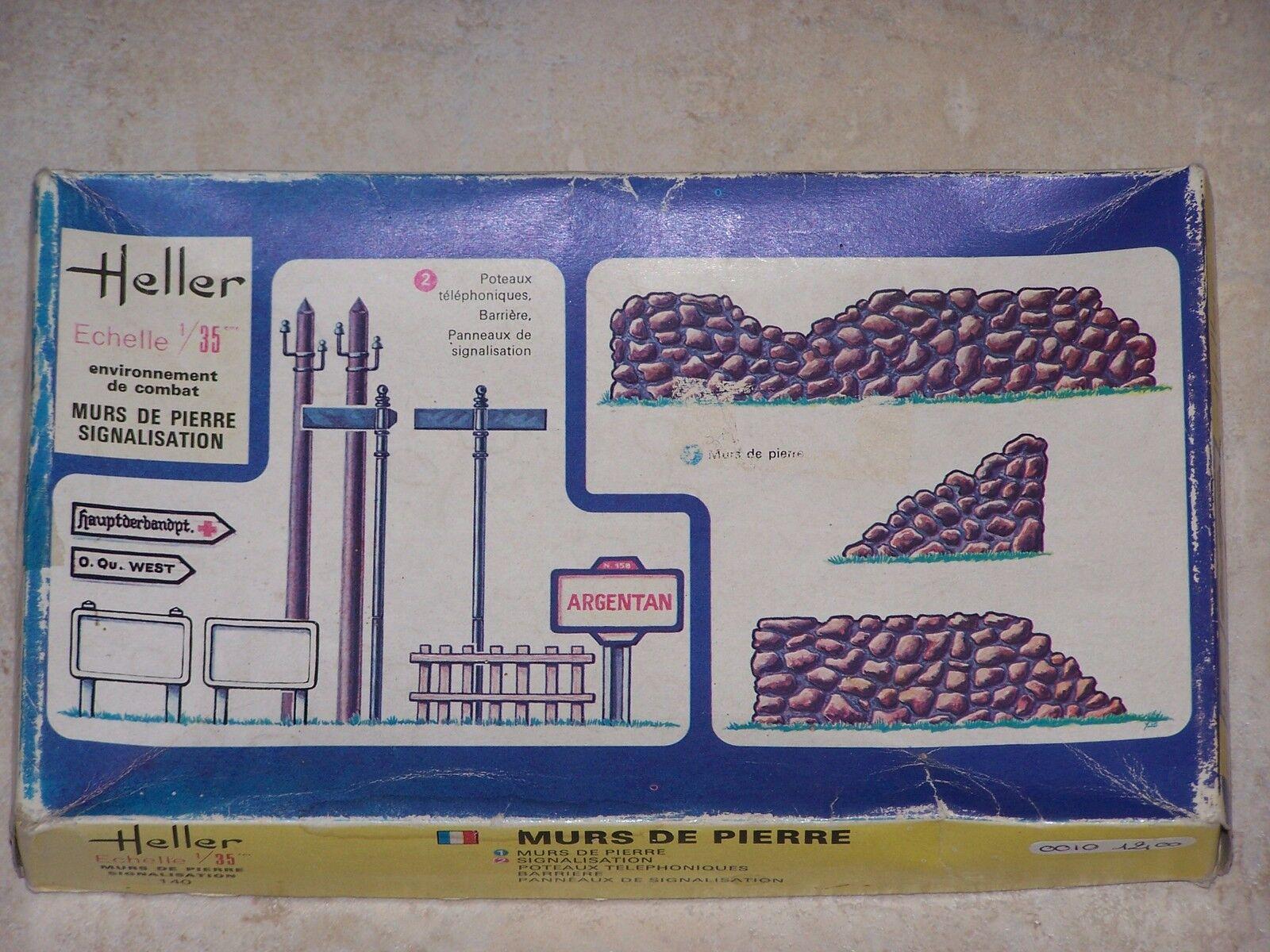 Diorama Heller  1 35ème MURS DE PIERRE SIGNALISATION