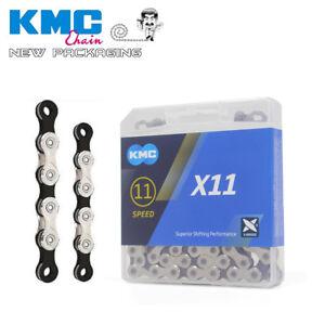 KMC-X11-11-Speed-Road-MTB-Bike-Chain-Shimano-Sram-NEW-Silver-Black-116L