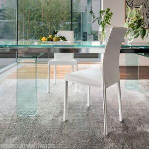 Sedia In Cuoio Modello Plaza 7299 Tonin Casa Sedia Da Cucina E Sala Salotto Ebay