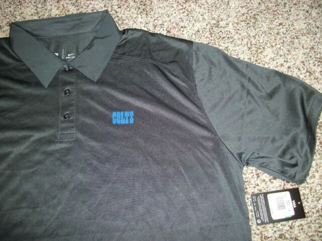NFL Nike Dri-fit Indianapolis Colts Football Polo Shirt L 537397  86a4728d4