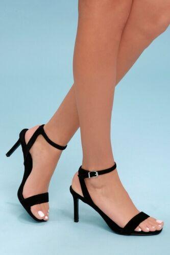 mujer Fe zapatos 5 talla del Steve para Correa Madden tobillo Nuevo 5 Negro tacones Sandalia wqXxSHf