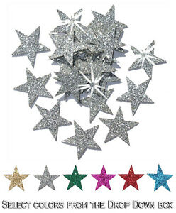 Iron-on-Stars-Glitter-25mm-Patch-Halloween-Costume-Christmas-Decoration-applique