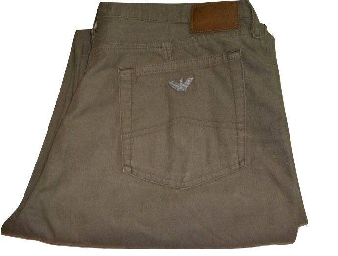 Da Uomo AJ ARMANI verde Kaki stretch leggero jeans W31 L33 Comfort Fit