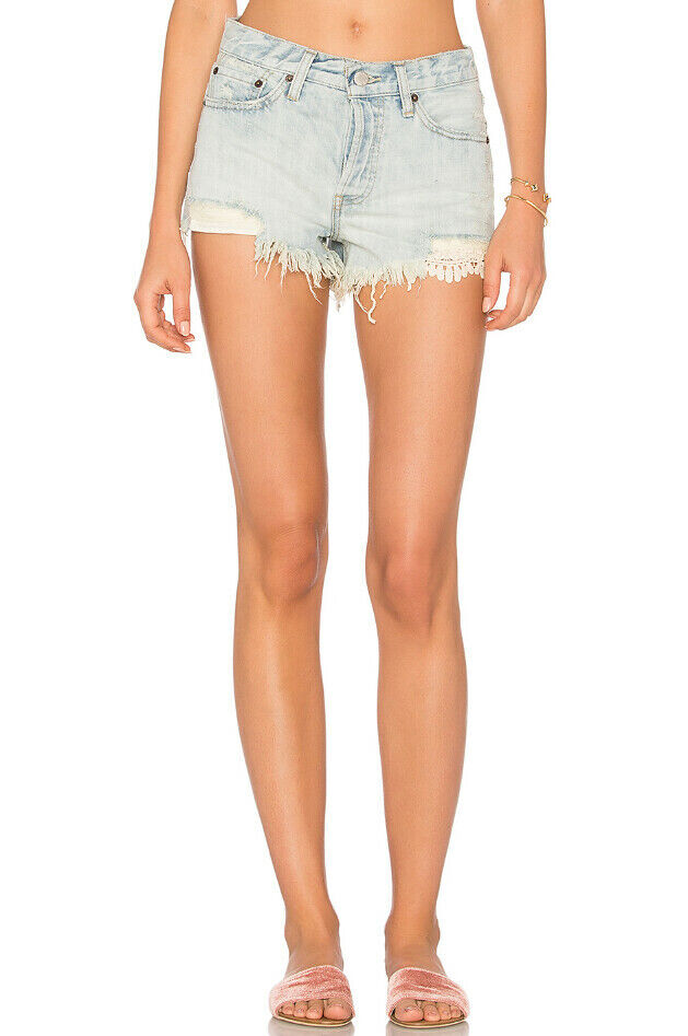 Free People Damen Daisy Chain OB585971 Shorts Entspannt Hellblau Größe 30