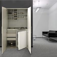 Schrankküche Küche Miniküche Küchenzeile Single Küchenblock Silber Grau respekta