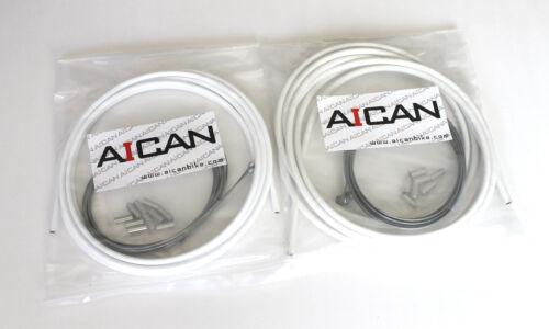 Aican Bike Shift Derailleur MTB Mountain cable housing set kit vs Jagwire White
