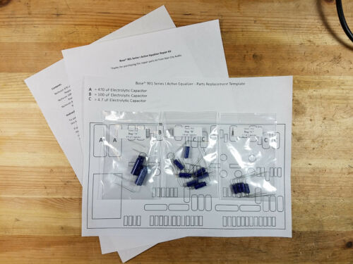 Bose 800 901 Series I Active Equalizer Electrolytic Capacitor Replacement Kit