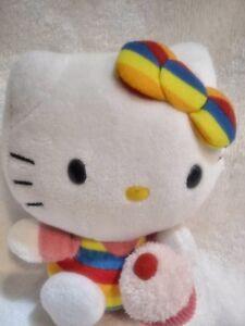 Image is loading TY-Beanie-Babies-Hello-Kitty-Rainbow-Cupcake-Stuffed- 1df48616204e
